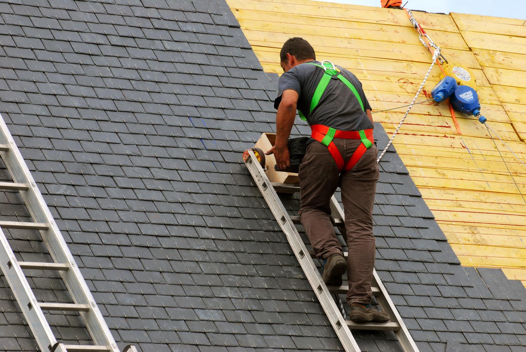 Echelle pour monter sur le toit
